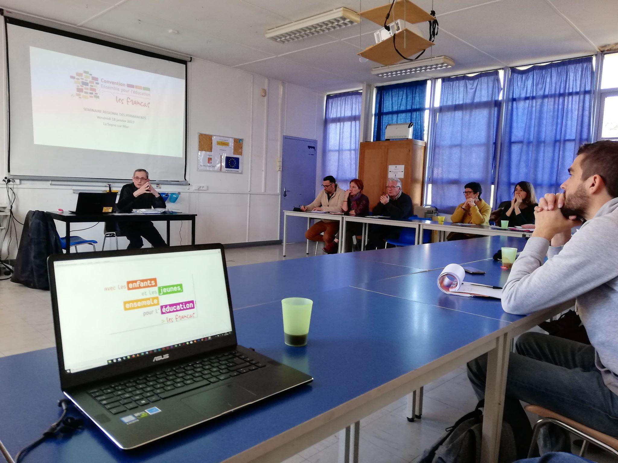 Les permanents salariés des associations Francas réunis en séminaire dans le Var